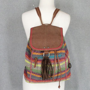 Sak Backpack Crochet Hippie Festival Fringe MINT